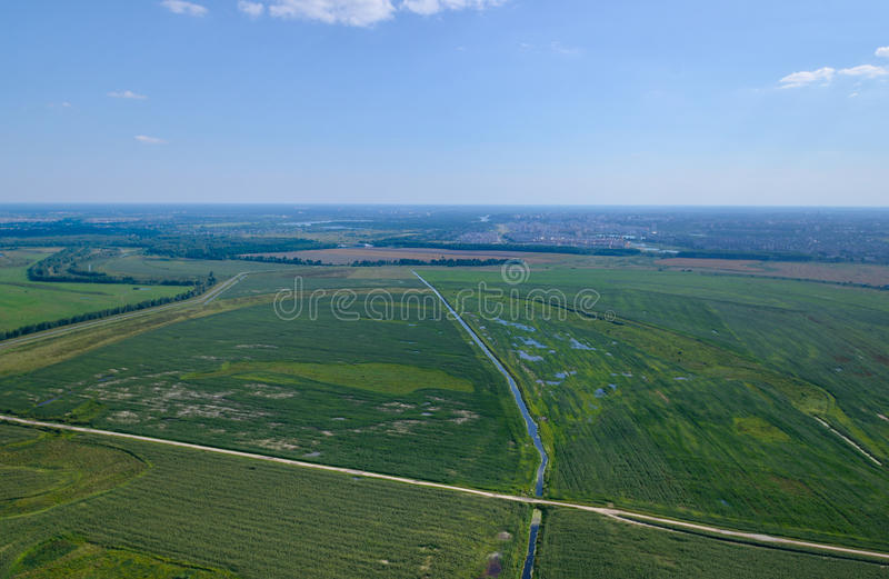 Crossroads and Fields royalty free stock photo