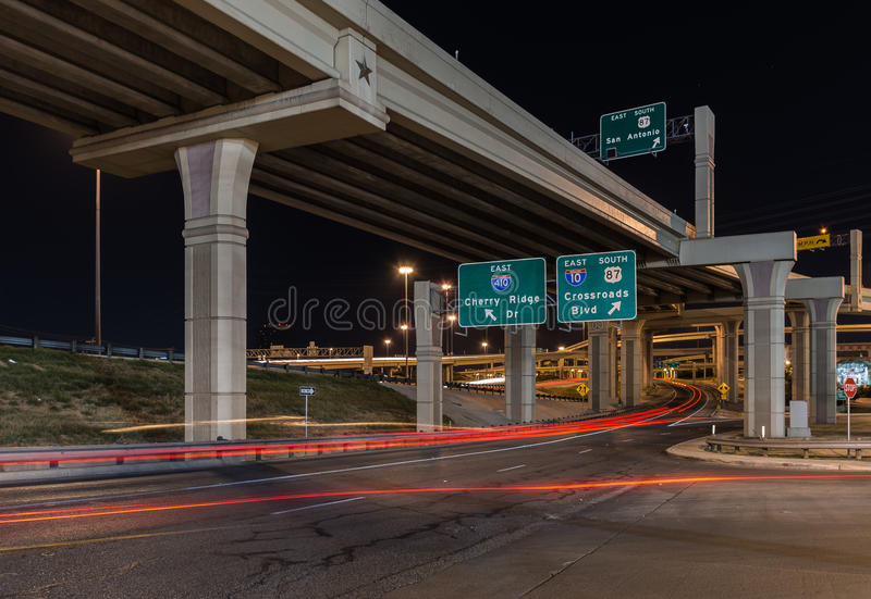Crossroads at Night royalty free stock photography