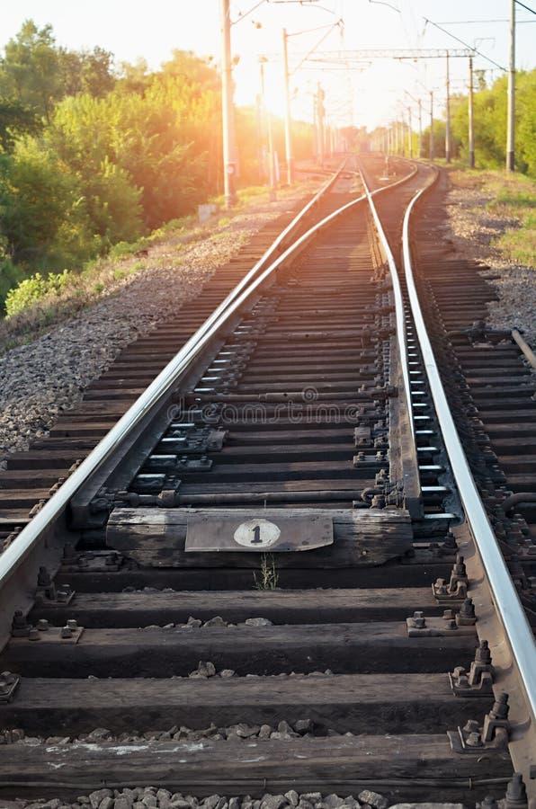 Crossroads railway stock photo