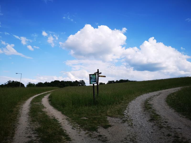 Crossroads to the freedom stock photography