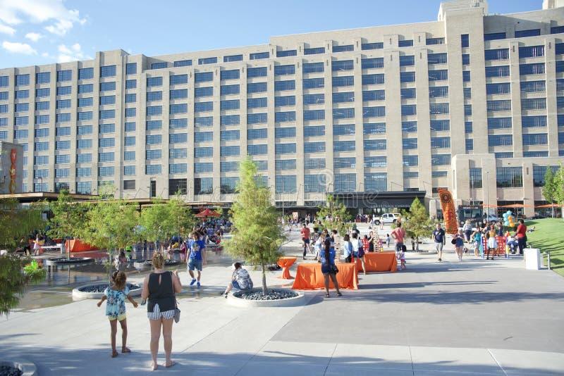 Crosstown Concourse podwórze, Memphis, Tennessee zdjęcie stock