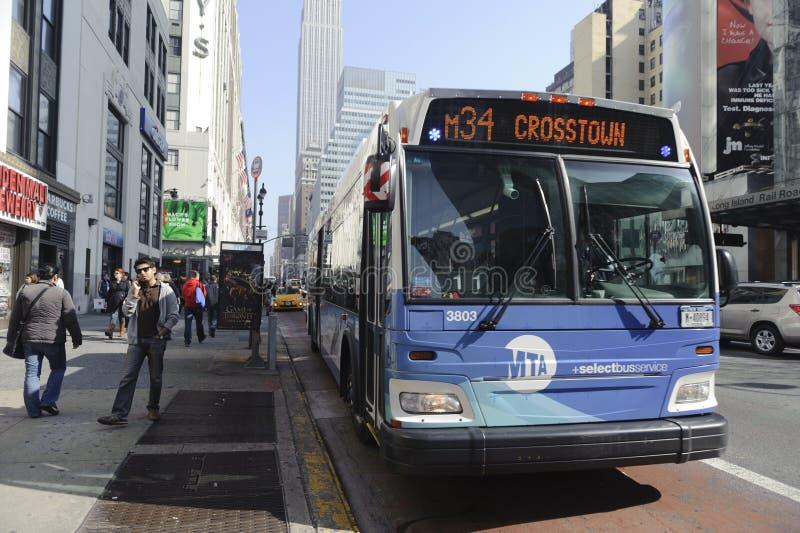 Download Crosstown Manhattan Bus editorial photo. Image of midtown - 24053156