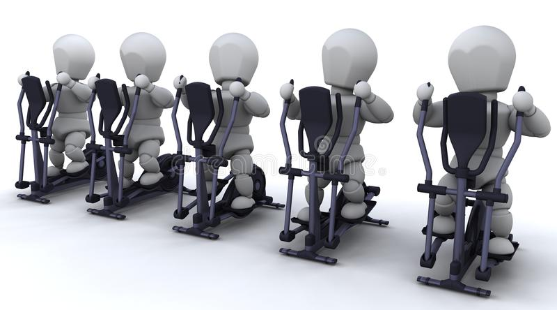 Download Crosstrainer stock illustration. Illustration of machine - 17471182