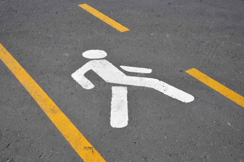 crosswalk Δρόμος που χαρακτηρίζει υπό μορφή ανθρώπινου αριθμού στοκ εικόνες με δικαίωμα ελεύθερης χρήσης