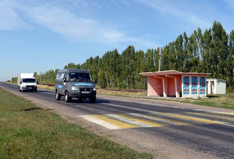 Crosswalk на шоссе в зоне Воронежа стоковое фото