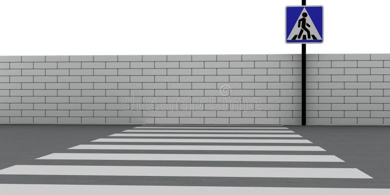 crosswalk ilustracja wektor