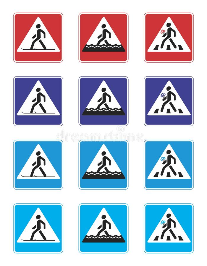 crosswalk stock illustratie