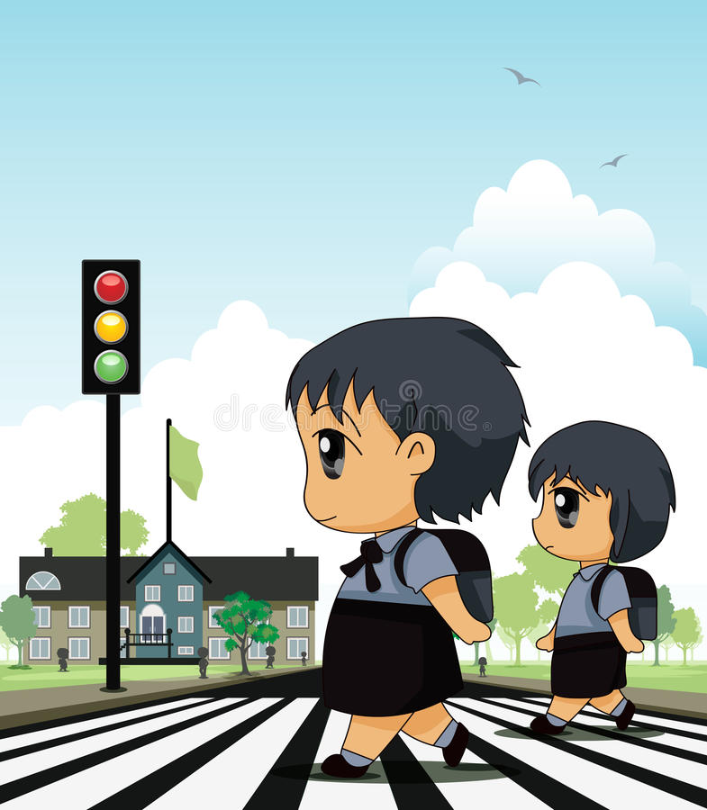 Crosswalk royalty ilustracja
