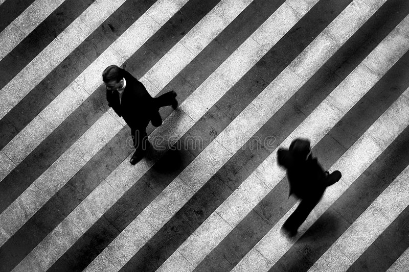 Crosswalk city scene stock image