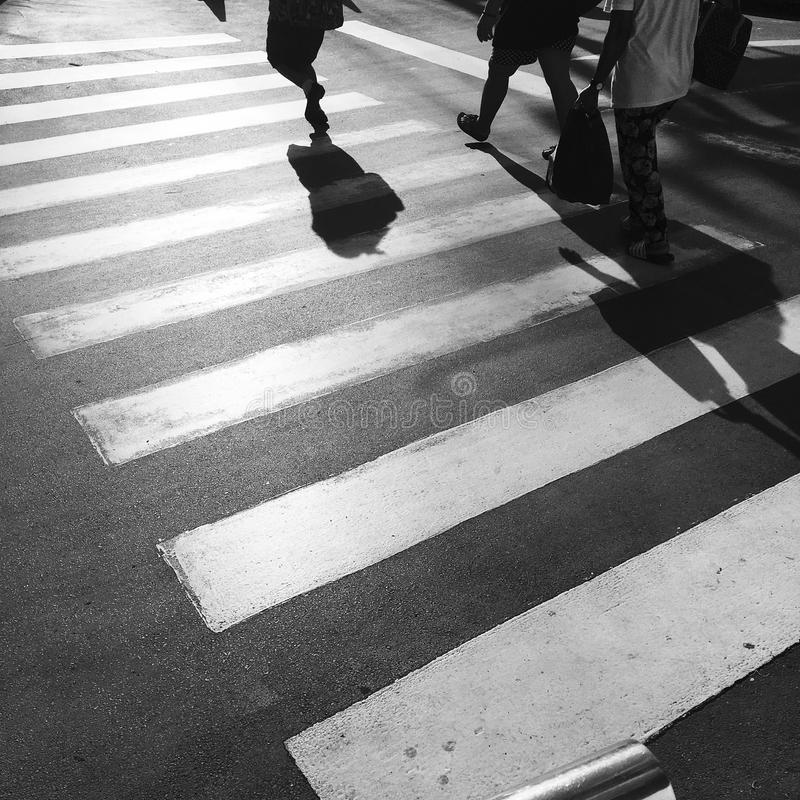 Crosswalk crossing. For pedestrian safety stock images