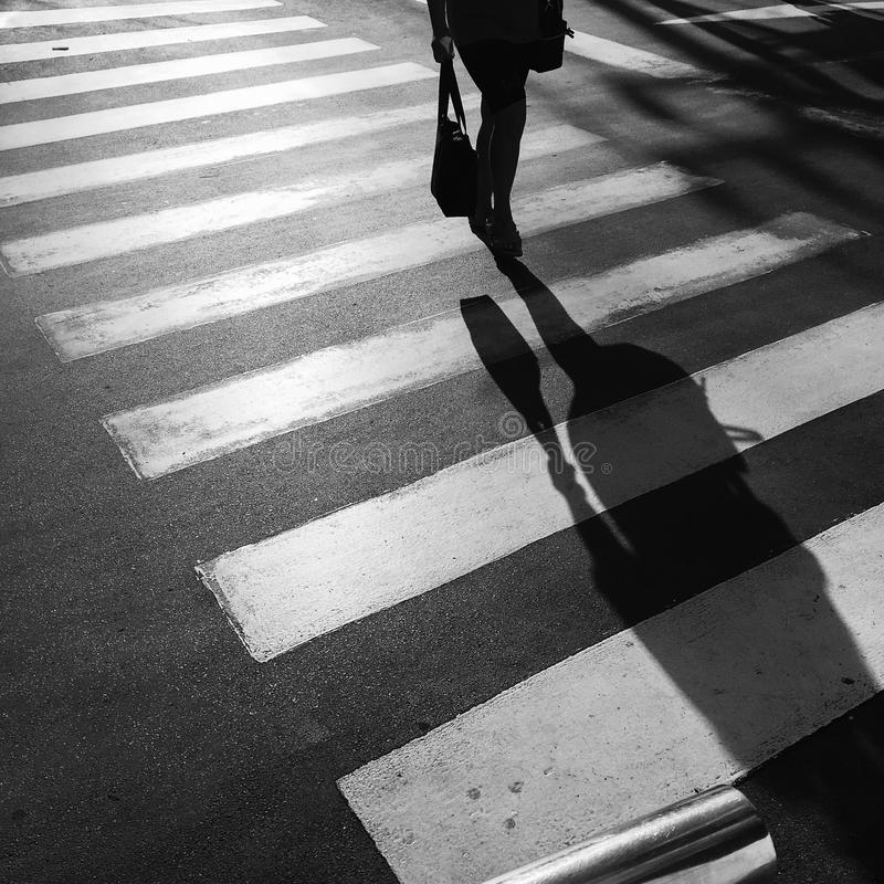 Crosswalk crossing. For pedestrian safety stock photos