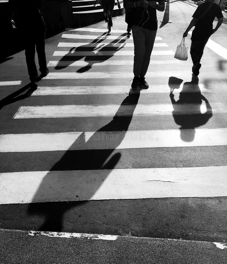 Crosswalk crossing. For pedestrian safety royalty free stock photo