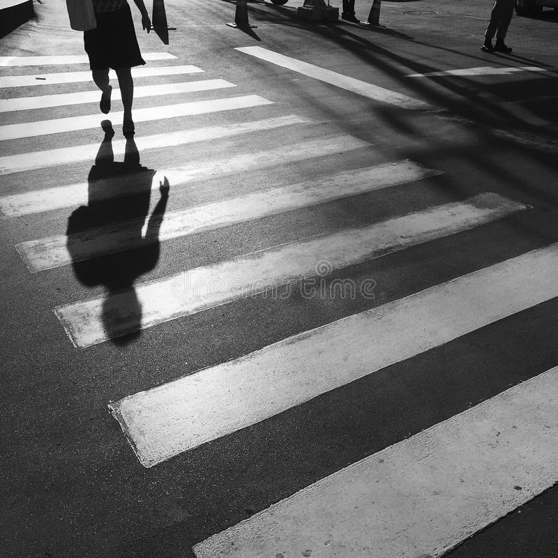 Crosswalk crossing. For pedestrian safety royalty free stock images