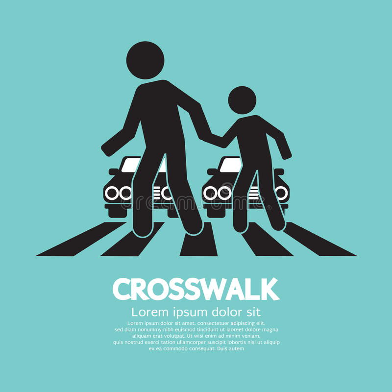 Crosswalk grafiki znak ilustracji