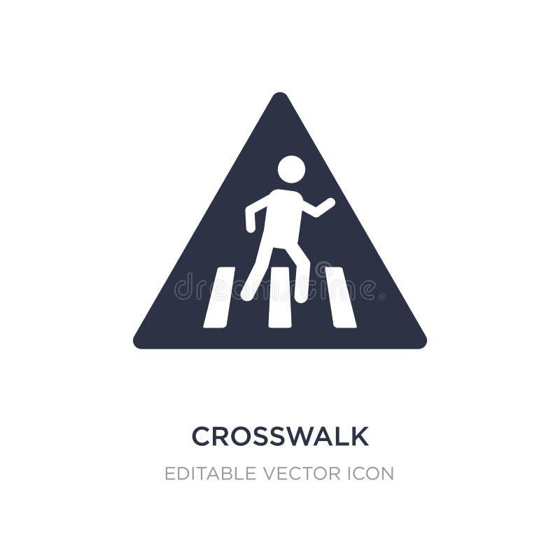 crosswalk ikona na białym tle Prosta element ilustracja od znaka pojęcia royalty ilustracja