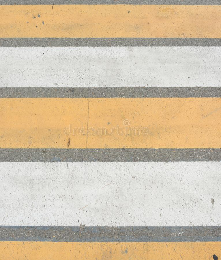Crosswalk na drogowym Zwyczajnym droga przemian na ulicznym skrzyżowaniu obraz stock
