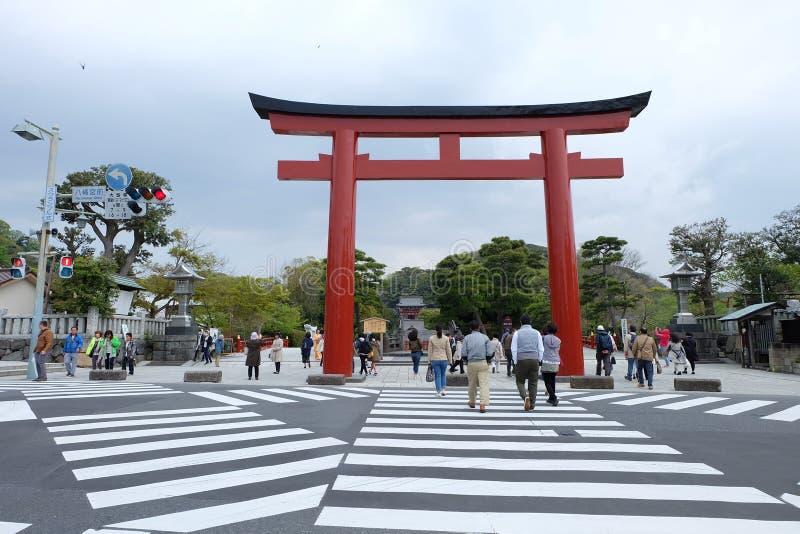 Crosswalk przed Kamakura obraz stock