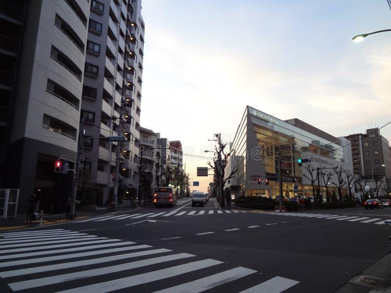 Crosswalk przed Tokio Toyopet w Shibuya zdjęcia royalty free