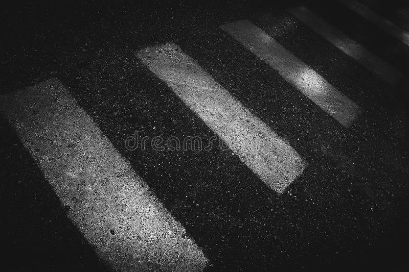 Crosswalk on the road royalty free stock photo