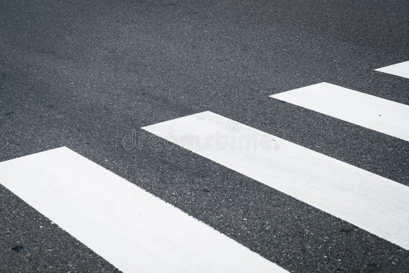 Crosswalk on the road royalty free stock images