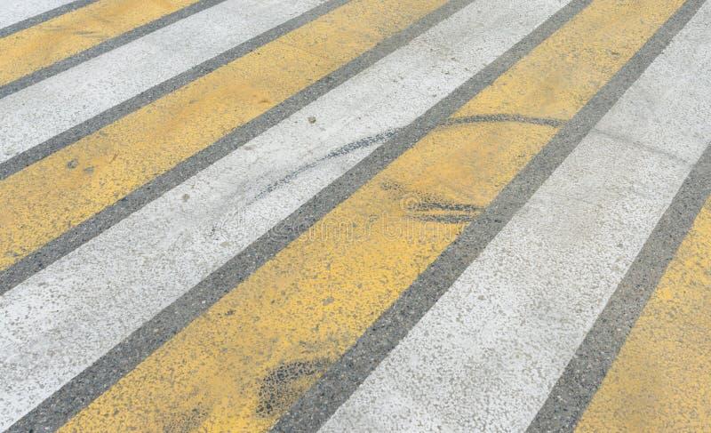 Crosswalk on the road Pedestrian pathway on a street crossing stock photo