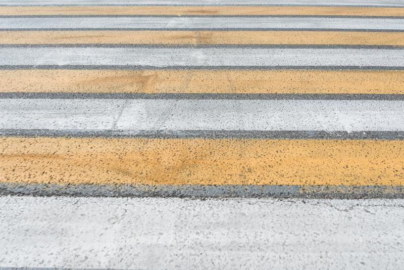 Crosswalk on the road Pedestrian pathway on a street crossing royalty free stock images