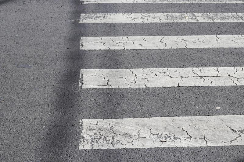 crosswalk on the road for safety when people walking cross the s stock photography