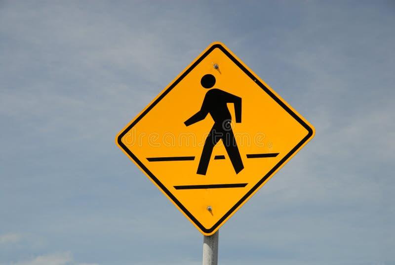 Download Crosswalk road sign stock image. Image of blue, mount - 6879485