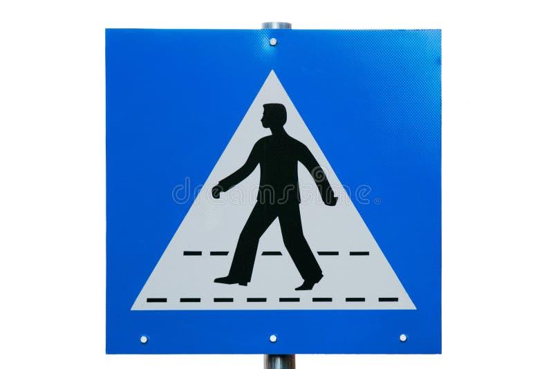 Crosswalk Road Sign Royalty Free Stock Images