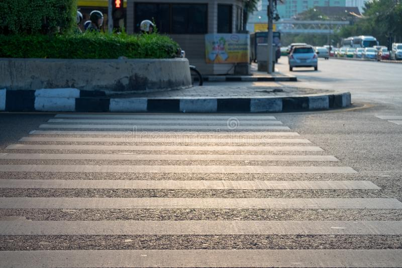 Crosswalk to cross the intersections royalty free stock image