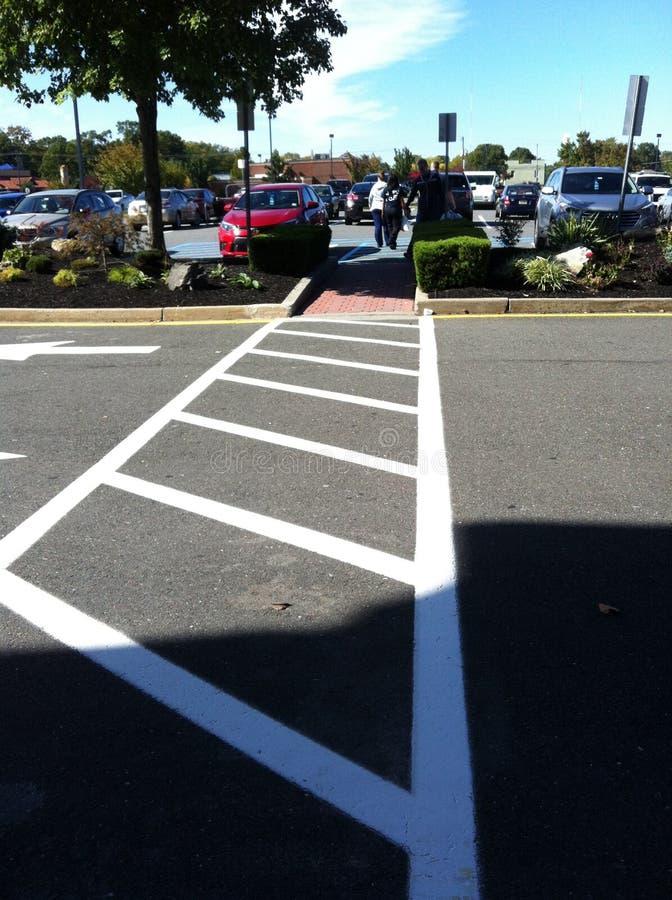 Crosswalk to Handicapped Parking stock photo