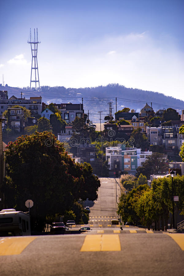 Crosswalk Tower San Fran stock image