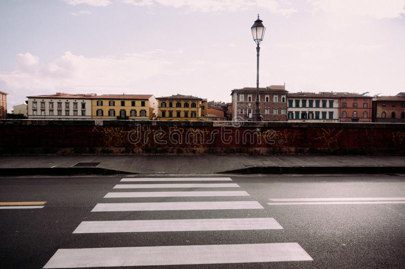 CROSSWALK W PISA fotografia royalty free