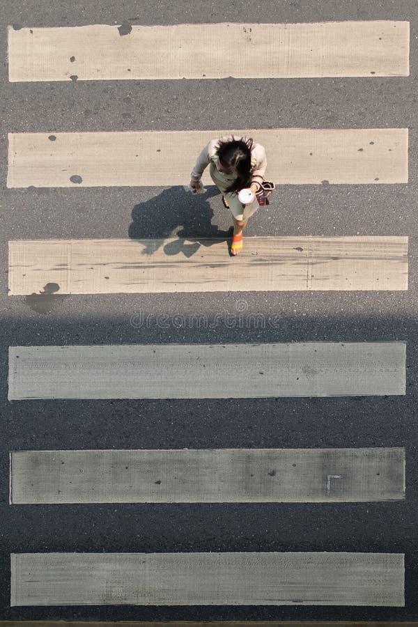 Crosswalk or Zebra crossing in Bangkok city Thailand. Bangkok, Thailand - March 31, 2016 : Crosswalk or Zebra crossing in Bangkok city. Bangkok is the capital stock images