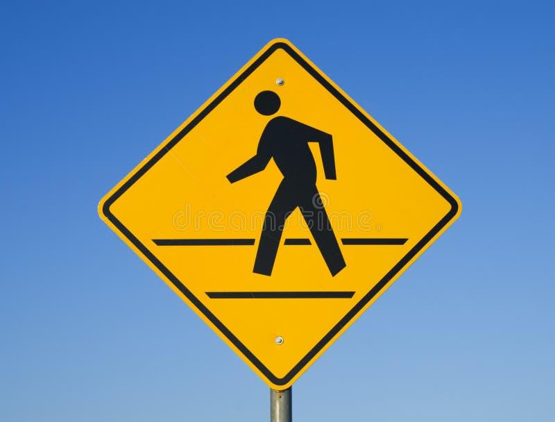 crosswalk znak zdjęcie stock