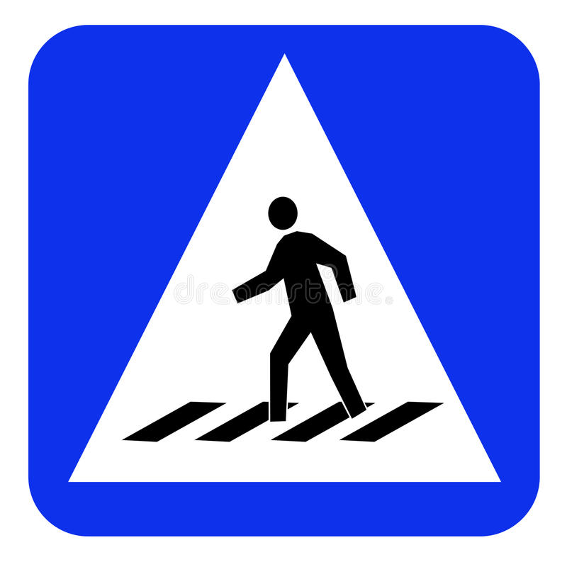 Crosswalk znaka deska ilustracji