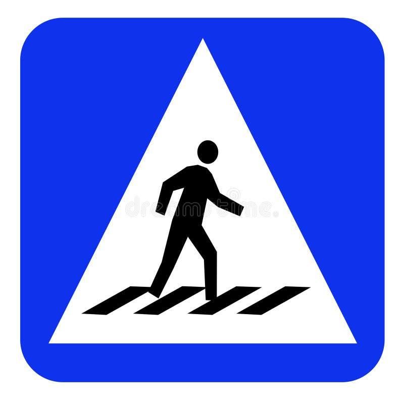 Crosswalk znaka deska royalty ilustracja