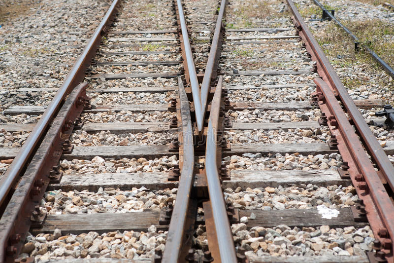 Crossway ferroviaire image stock