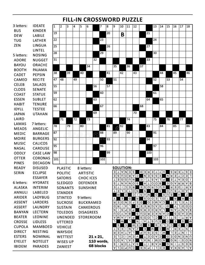 Crossword łamigłówka, kriss-kross, lub projektujemy royalty ilustracja