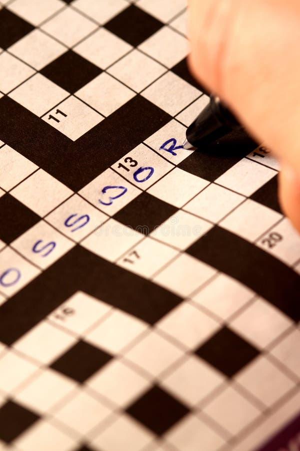 crossword zdjęcie royalty free