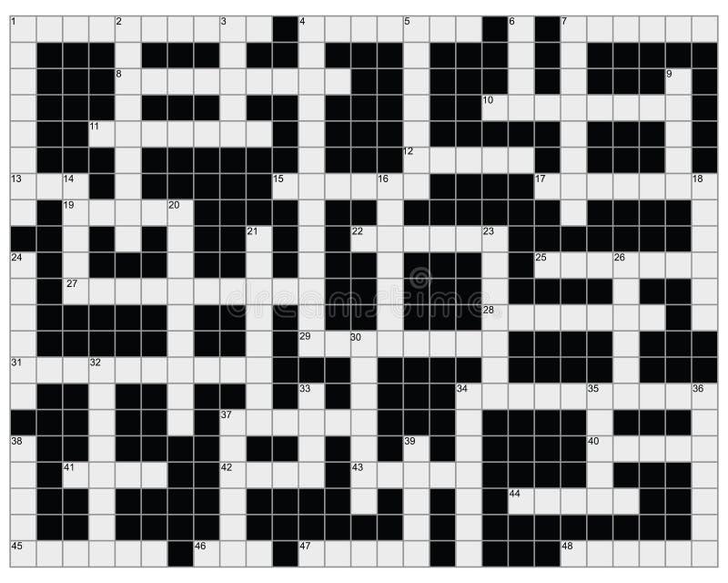 crossword illustration de vecteur