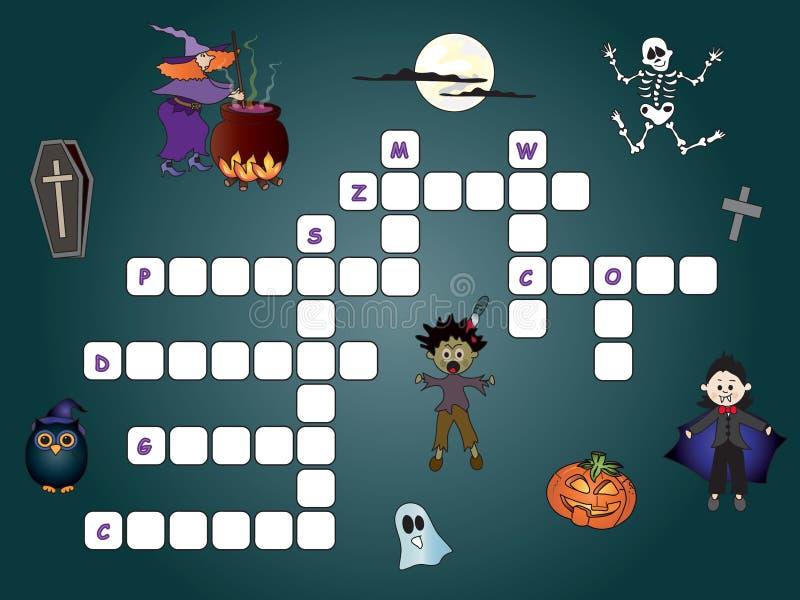 crossword illustration stock