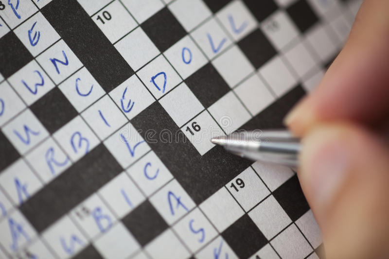 crossword obrazy royalty free