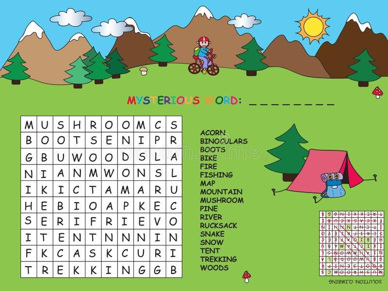 crossword illustration libre de droits