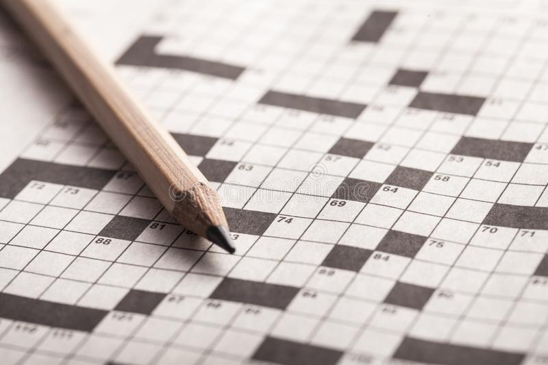 crossword fotografia stock