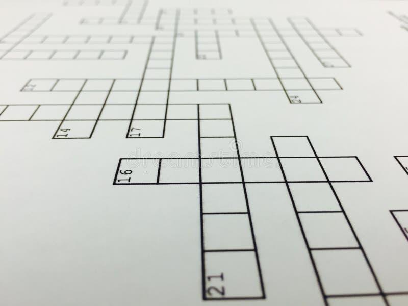 crossword images stock