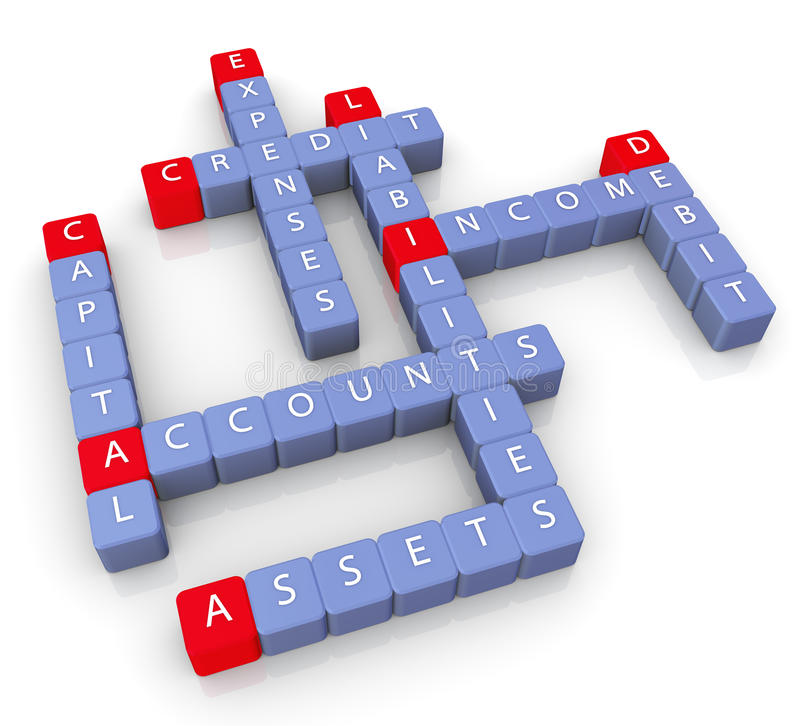 Download Crossword of accounts stock illustration. Image of cube - 20680751