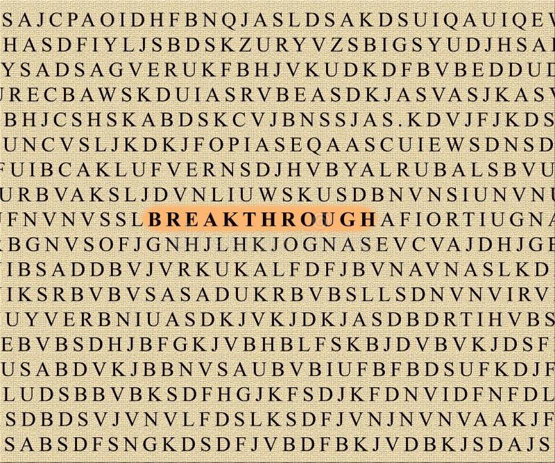 Crossword-breakthrough stock images