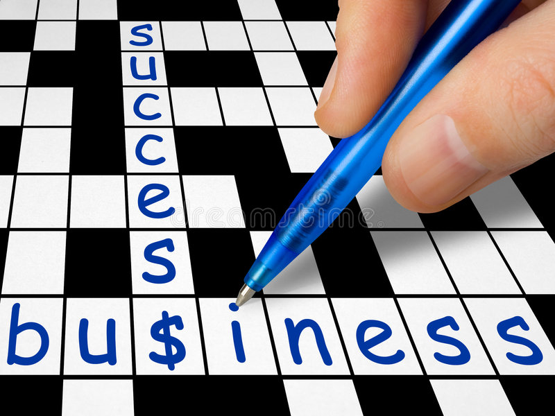 Crossword - business and success royalty free stock image