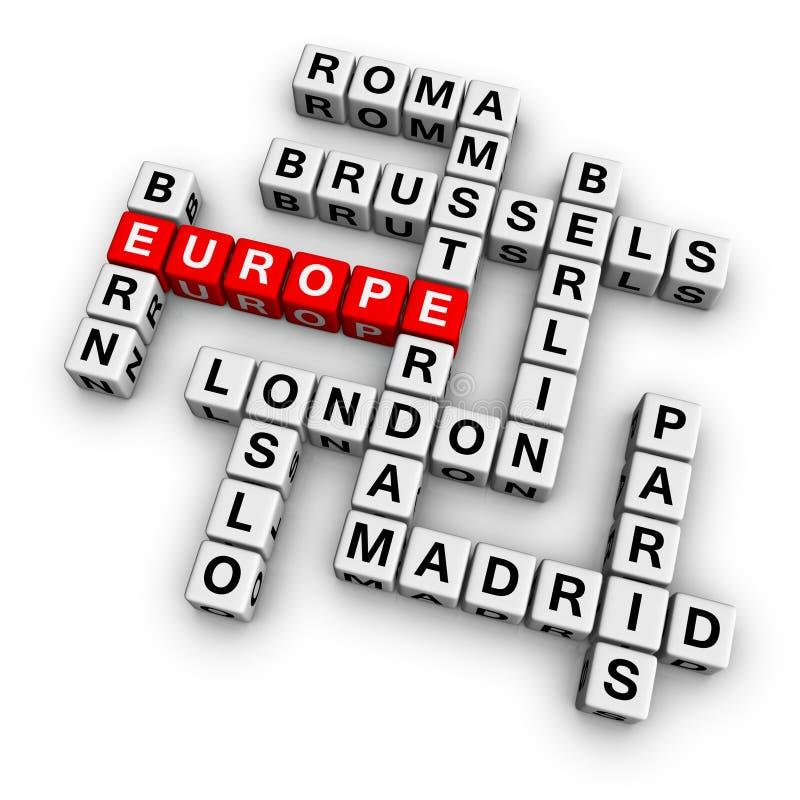 Download Crossword europe stock illustration. Image of bern, london - 13152920